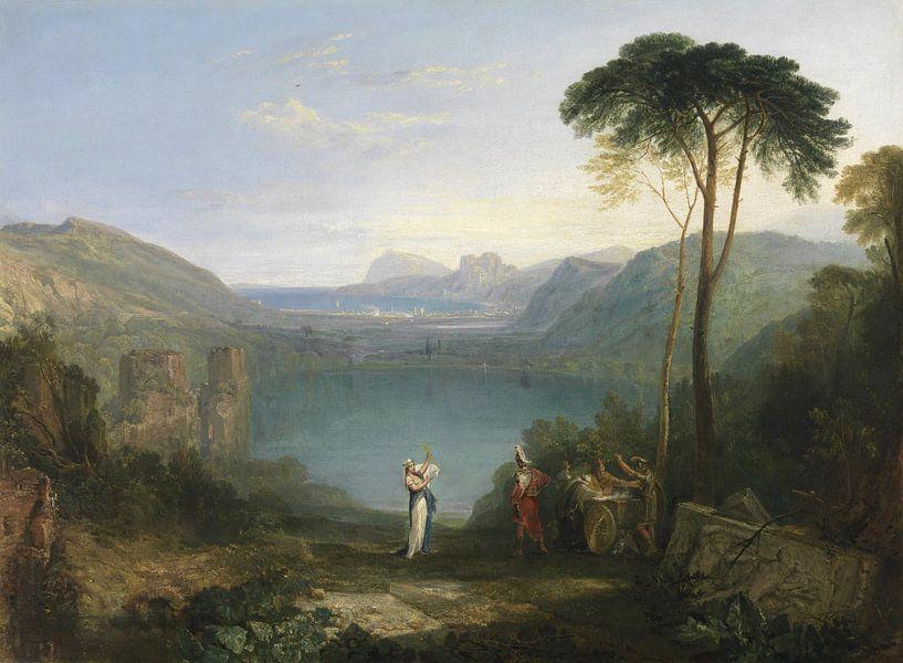 Lake Avernus: Aeneas and the Cumaean Sybil, Joseph Mallord William Turner sur Meesterlijcke Meesters
