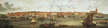 Blick auf Dordrecht von der nördlichen Mündung aus, Adam Willaerts