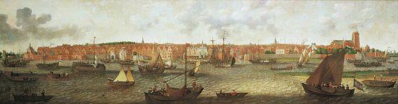 Gezicht op Dordrecht vanuit de monding van de Noord, Adam Willaerts