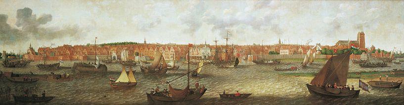 Gezicht op Dordrecht vanuit de monding van de Noord, Adam Willaerts van Meesterlijcke Meesters