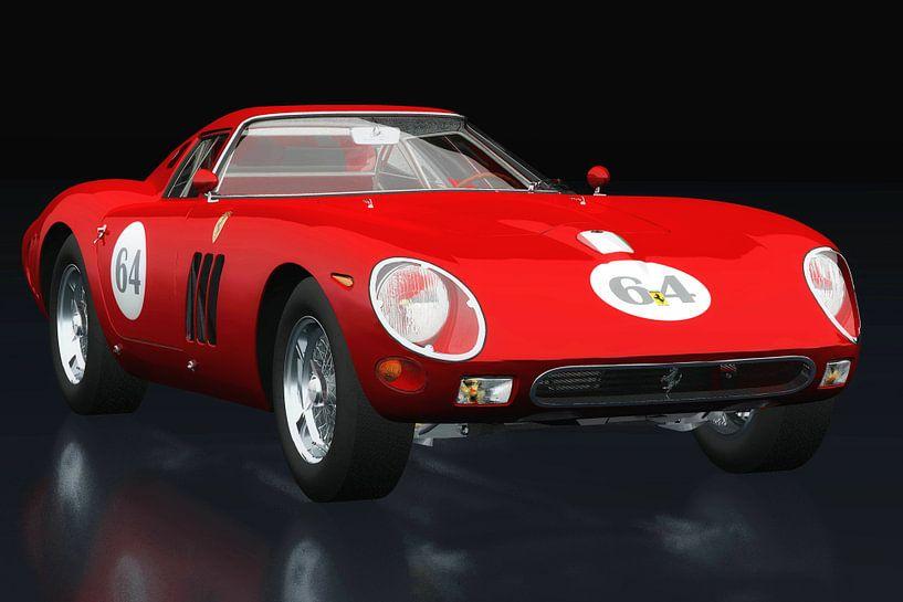 Ferrari 250 GTO drie-kwart zicht van Jan Keteleer