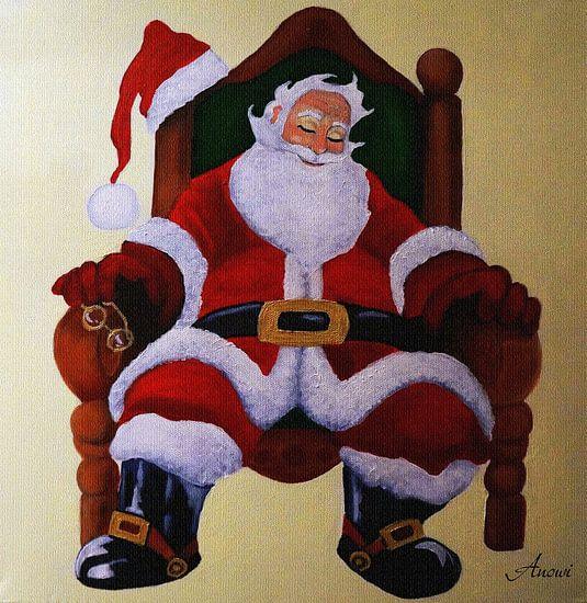 Schlafende Weihnachtsmann van Iwona Sdunek alias ANOWI