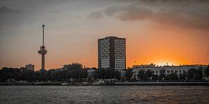 Rotterdam Skyline (zonsondergang) van