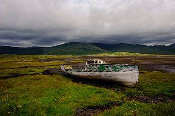 Oude boot - Isle of Mull - Schotland van