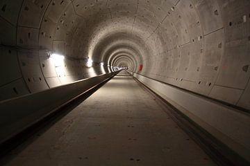 Noord zuid lijn metro tunnel Amsterdam van Bobsphotography