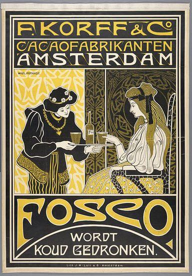 F. Korff & Co. Cacaofabrikanten Amsterdam. Fosco wordt koud gedronken, Willem Pothast, c. 1898 van 1000 Schilderijen