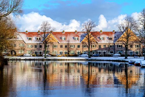 Winter reflectie van