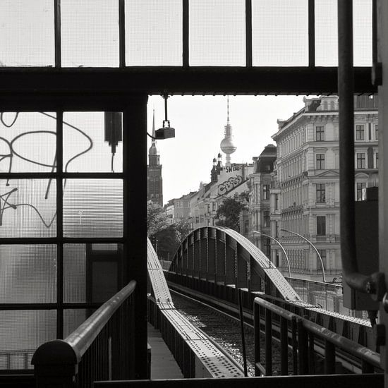 U-Bahnhof der Linie U2 - Sonderzug nach Pankow von Silva Wischeropp