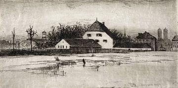 Lewis Henry Meakin, München van het Marsfeld - 1884 van Atelier Liesjes