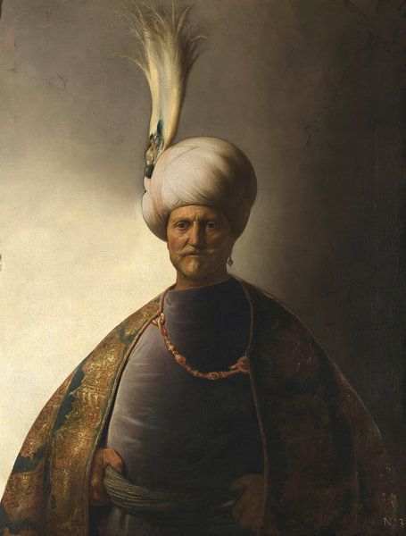 Mann in orientalischer Kleidung, Jan Lievens von Meesterlijcke Meesters