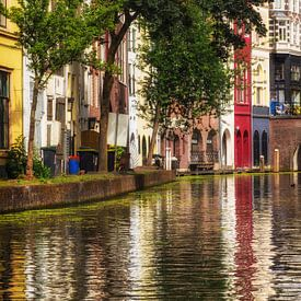 De werf aan de achterzijde van de Lijnmarkt aan de Utrechtse Oudegracht (staand) van De Utrechtse Grachten
