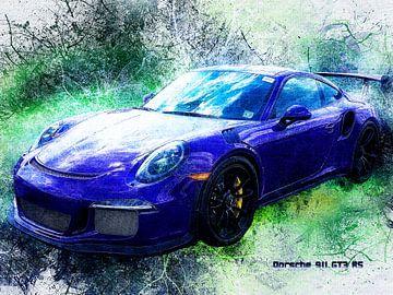 Porsche van Printed Artings