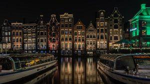 Damrak, Amsterdam in kleur van Mirjam Boerhoop - Oudenaarden