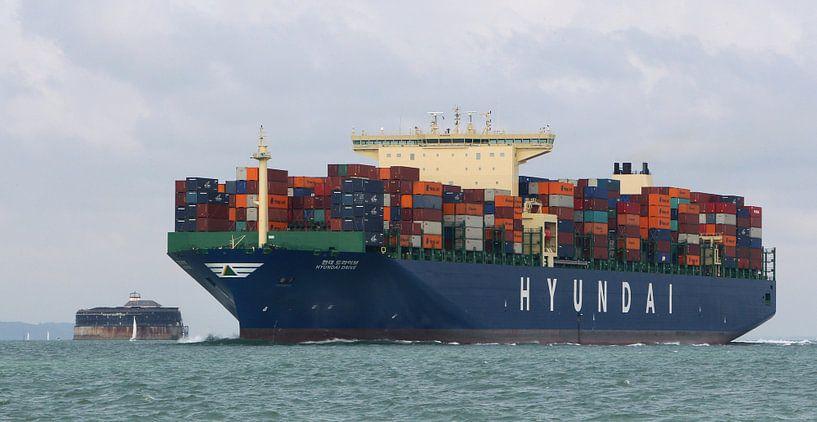 Containerschip HYUNDAI DRIVE van Sybrand Treffers