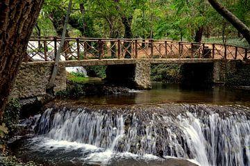 Waterval Los Vadillos in het Parque Natural del Monasterio de Piedra van Iris Heuer