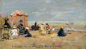 op het Strand, Eugène Boudin