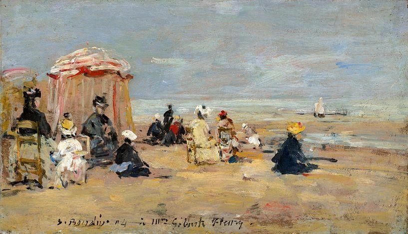 Auf dem Strand, Eugène Boudin von Liszt Collection