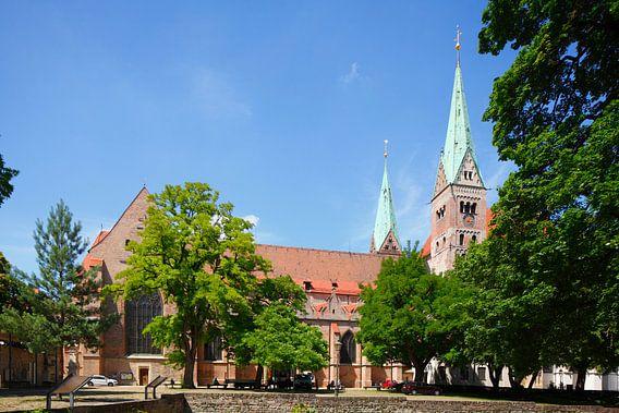 Dom van Augsburg , Oude Stad, Augsburg, Zwaben, Beieren, Duitsland, Europa I Augsburgse Domkerk , Au
