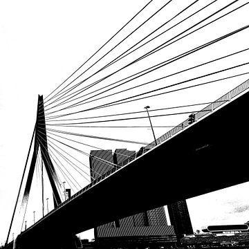 Silhouette van de Erasmusbrug van Ellen van Schravendijk