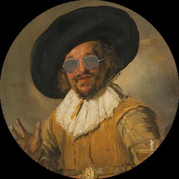 De vrolijke drinker met bril - Frans Hals
