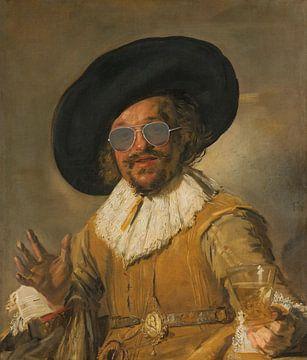 Der fröhliche Trinker mit Gläsern - Frans Hals