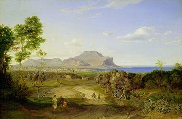 Blick über Palermo - Carl Rottmann