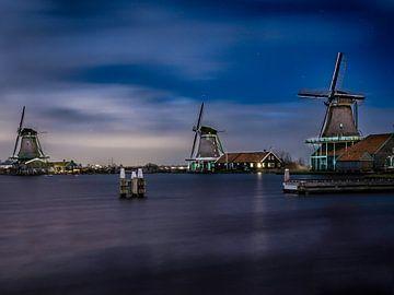 Zaanse Mühlen am Abend von Helga fotosvanhelga