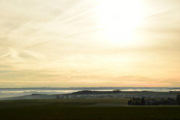 Aufgehende Sonne in der Champagne Region von Renzo de Jonge