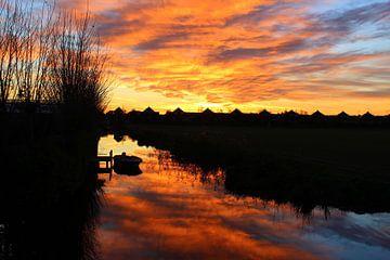 Zonsondergang in Voorhout van