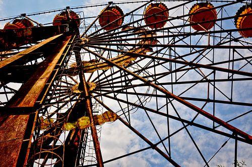 Reuzenrad in Tjernobyl van