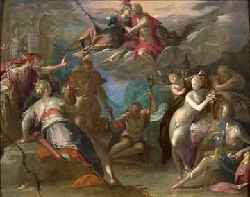 Hans von Aachen.Die Überraschung der Götter