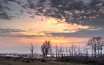 Zonsondergang De Onlanden van Sandra de Heij