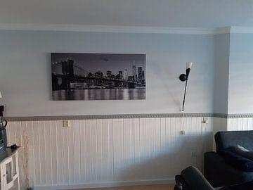 Kundenfoto: Skyline New York schwarz und weiß von Bart van Dinten