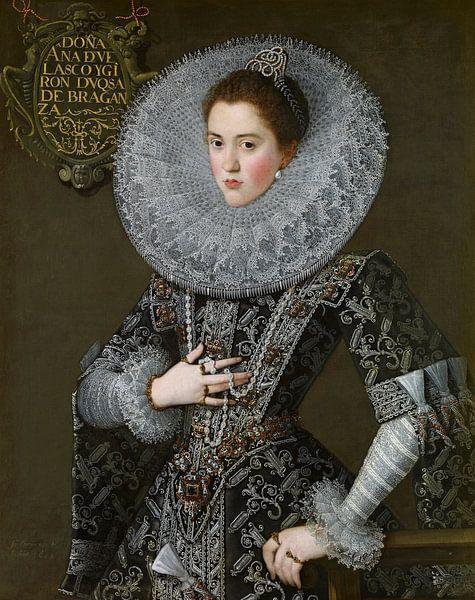 Portret van Ana de Velasco y Girón, Juan Pantoja de la Cruz - 1603 van Het Archief