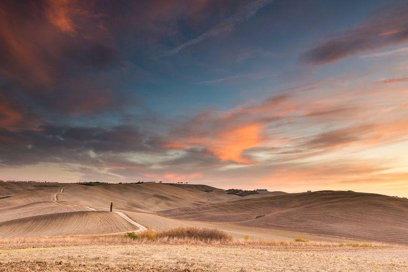 De toscaanse heuvels van Damien Franscoise