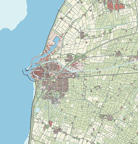 Kaart van Harlingen