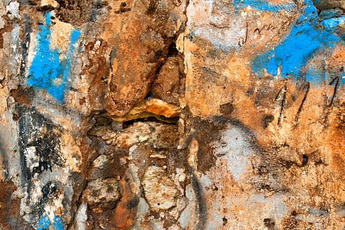 Verweerde muur - studie 1 van Hans Kwaspen