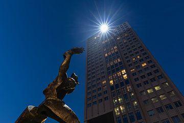 Monument De Verwoeste Stad in Rotterdam van MS Fotografie | Marc van der Stelt