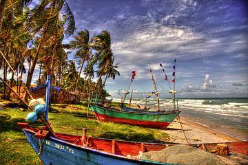 Phu Quoc vissersboten van Ron Meiresonne