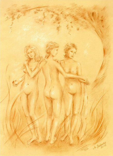 Drie vereren - erotische tekeningen van Marita Zacharias