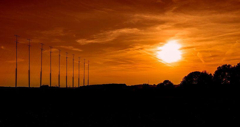 Zonsondergang bij Simpelveld van John Kreukniet