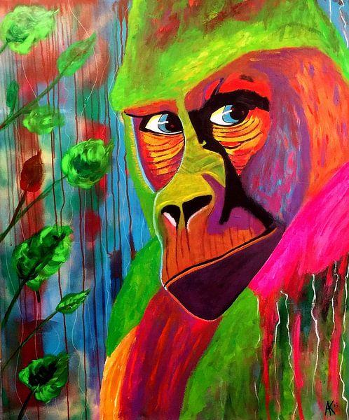 Color-rilla Tessa van Blue Eyes Painting