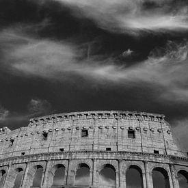 Colisée noir et blanc sur Patrick Verhoef