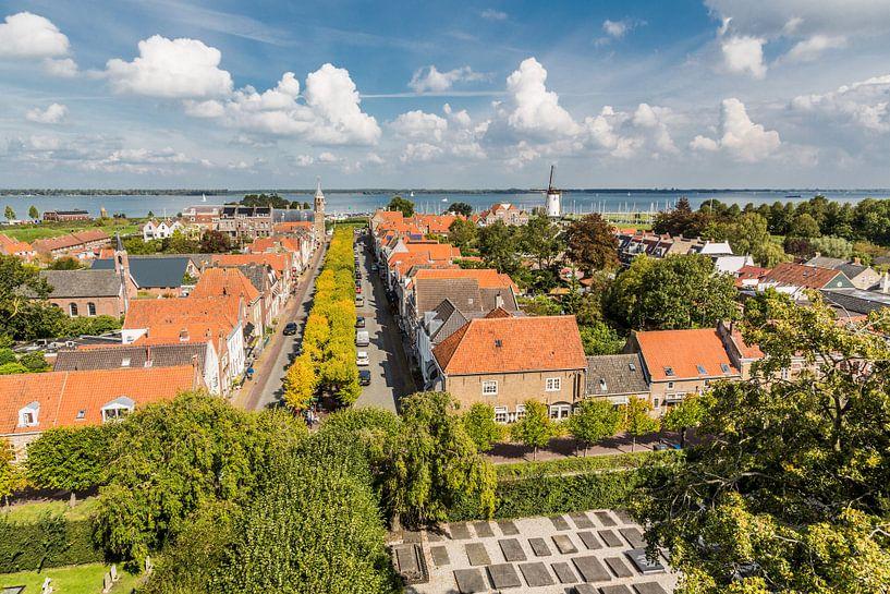 Uitzicht op Willemstad (Noord-Brabant) van Fotografie Jeronimo