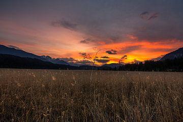 Sunset Hermagor, Austria von Thomas Bartelds