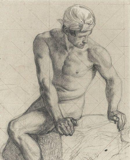 Mann, nackt mit Turban - 1867 - 1869