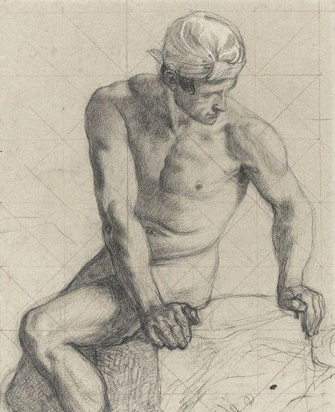 Mann, nackt mit Turban - 1867 - 1869 von Atelier Liesjes
