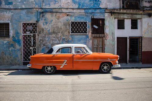 Oldtimer oranje van