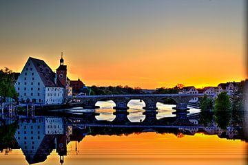 Zonsondergang Regensburg van Roith Fotografie