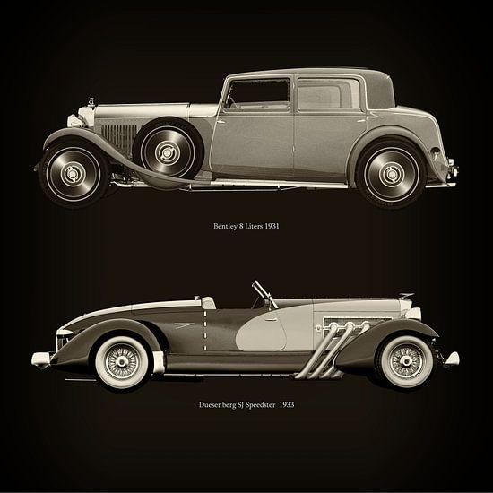 Bentley 8 Liters 1931 en Duesenberg SJ Speedster 1933